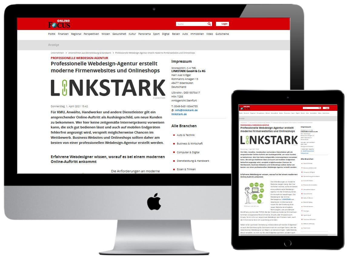 Professionelle Webdesign Agentur